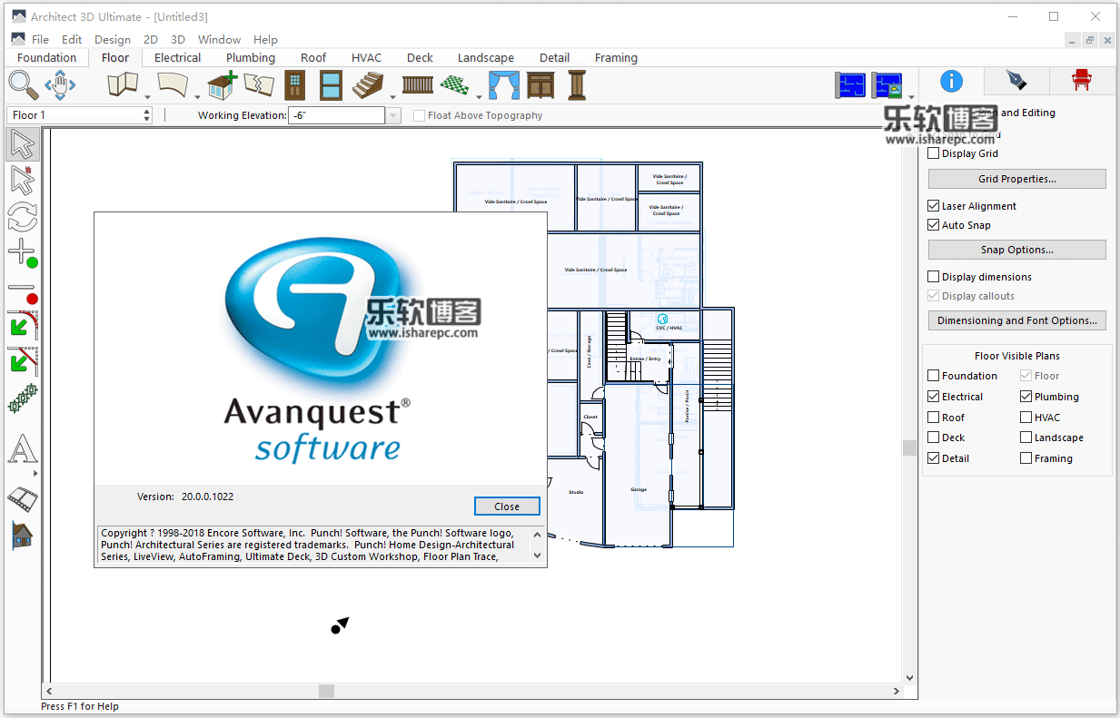 Avanquest Architect 3D Ultimate 2018 20.0破解版