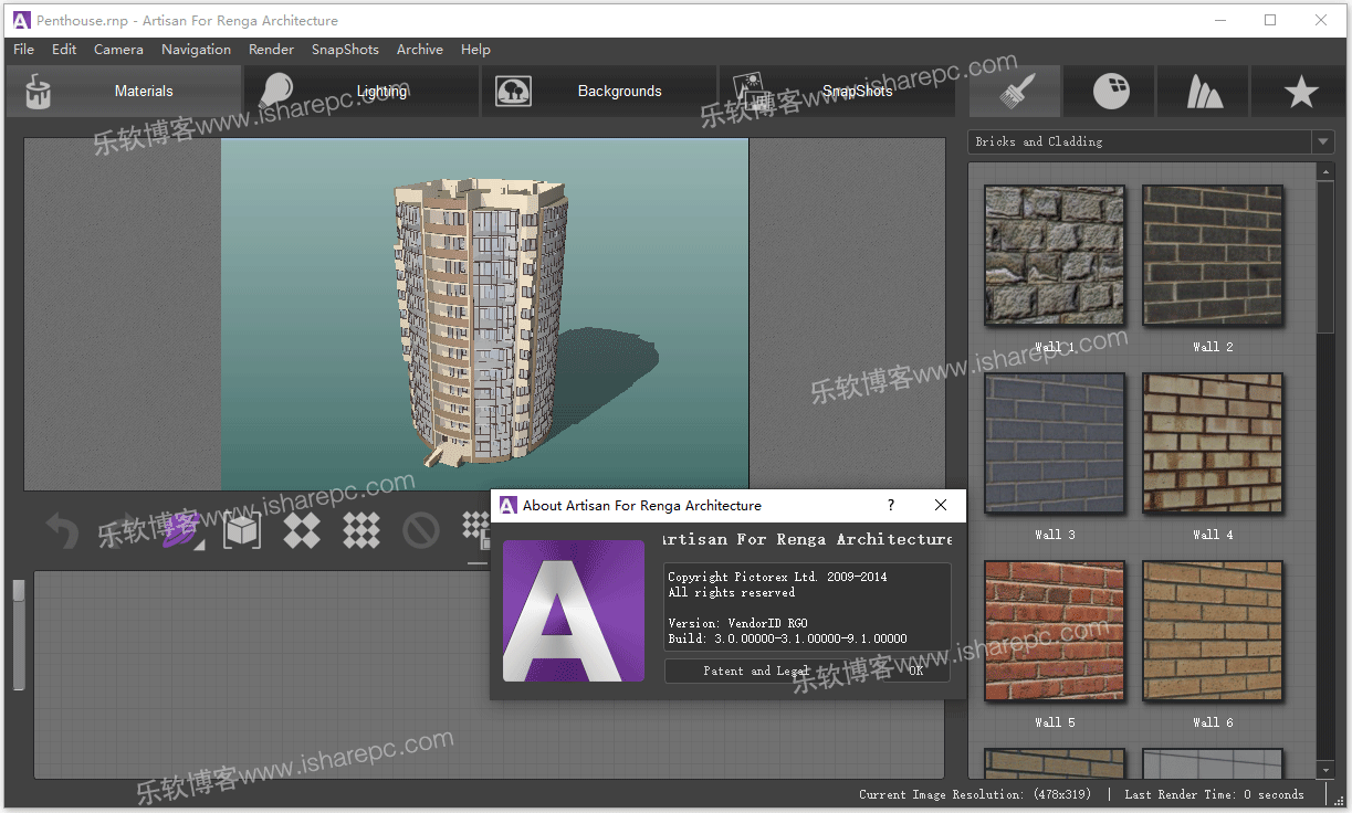 Artisan Render 1.0 for Renga Architecture破解版