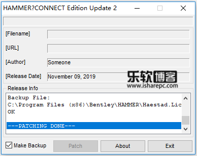 Bentley Hammer Connect Edition Update 2 v10.02.02.06破解补丁
