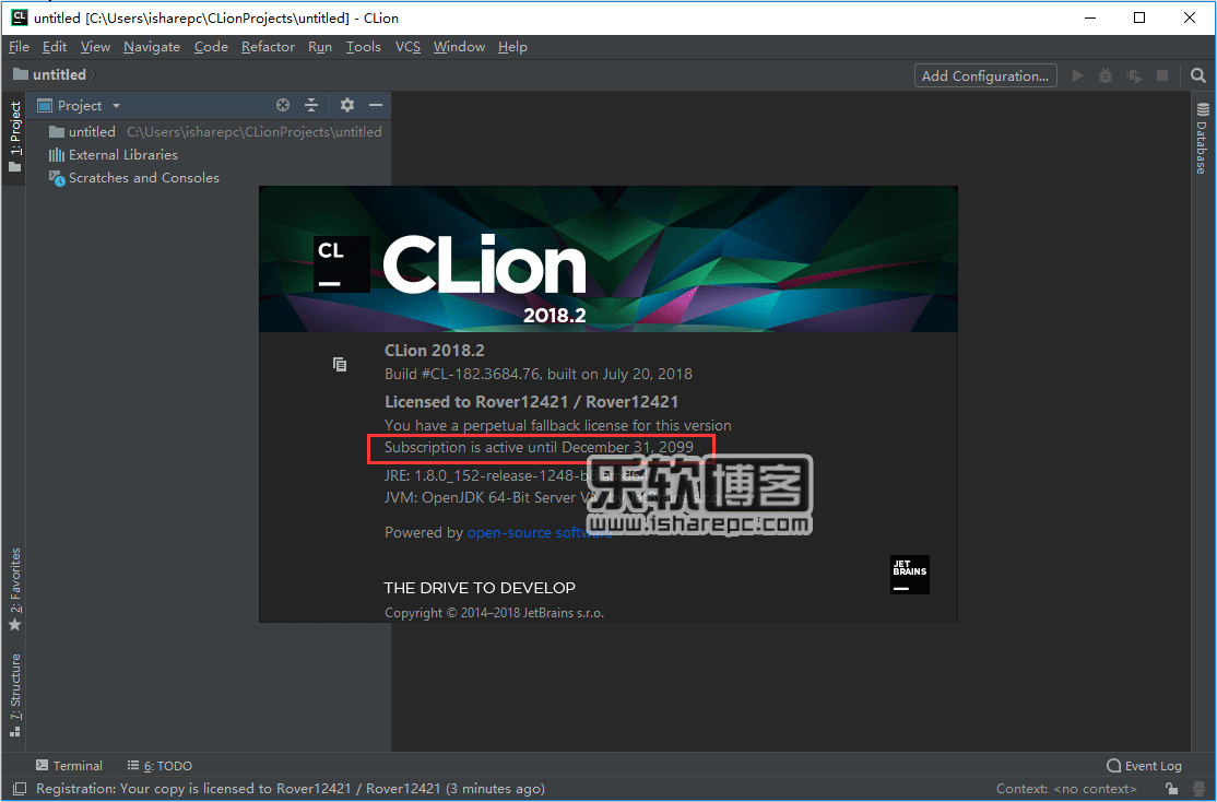 JetBrains CLion 2018.2破解版