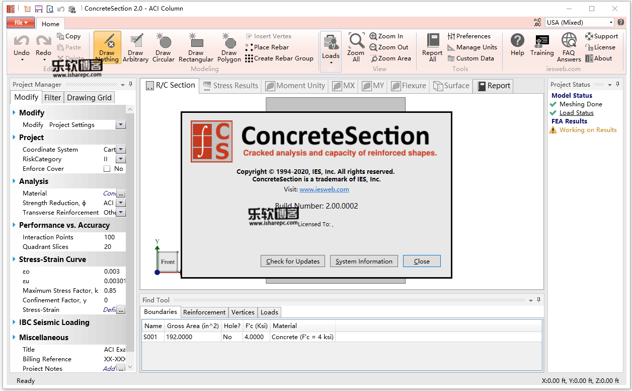 IES ConcreteSection v2.00