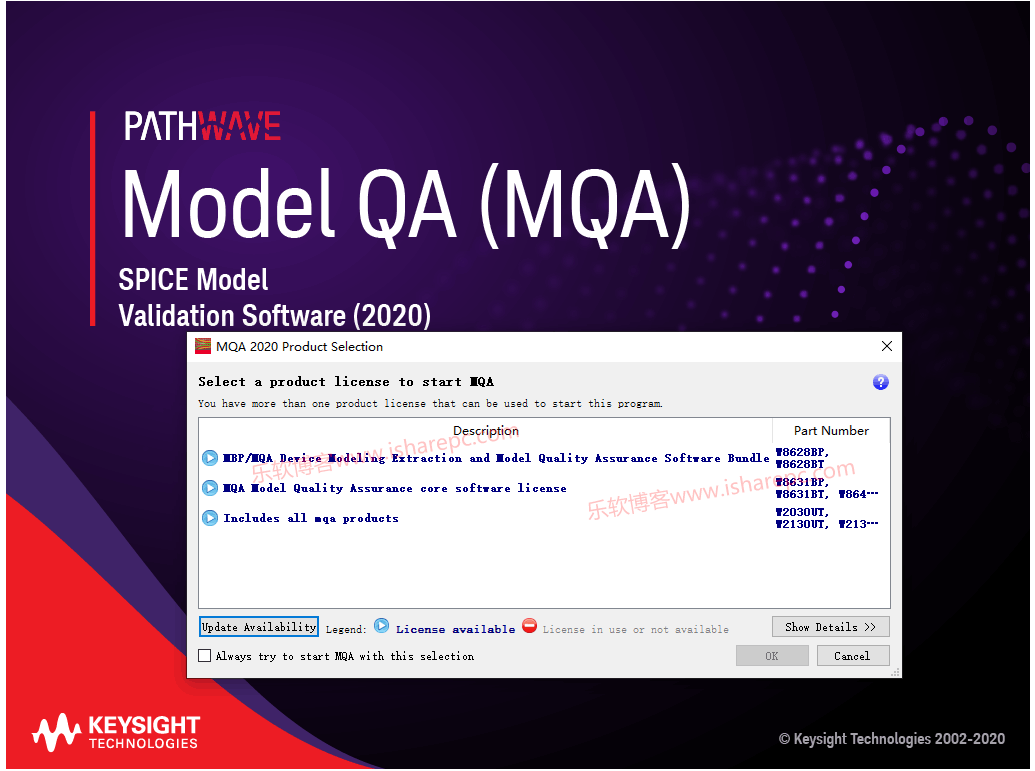 Keysight Model Quality Assurance (MQA) 2020