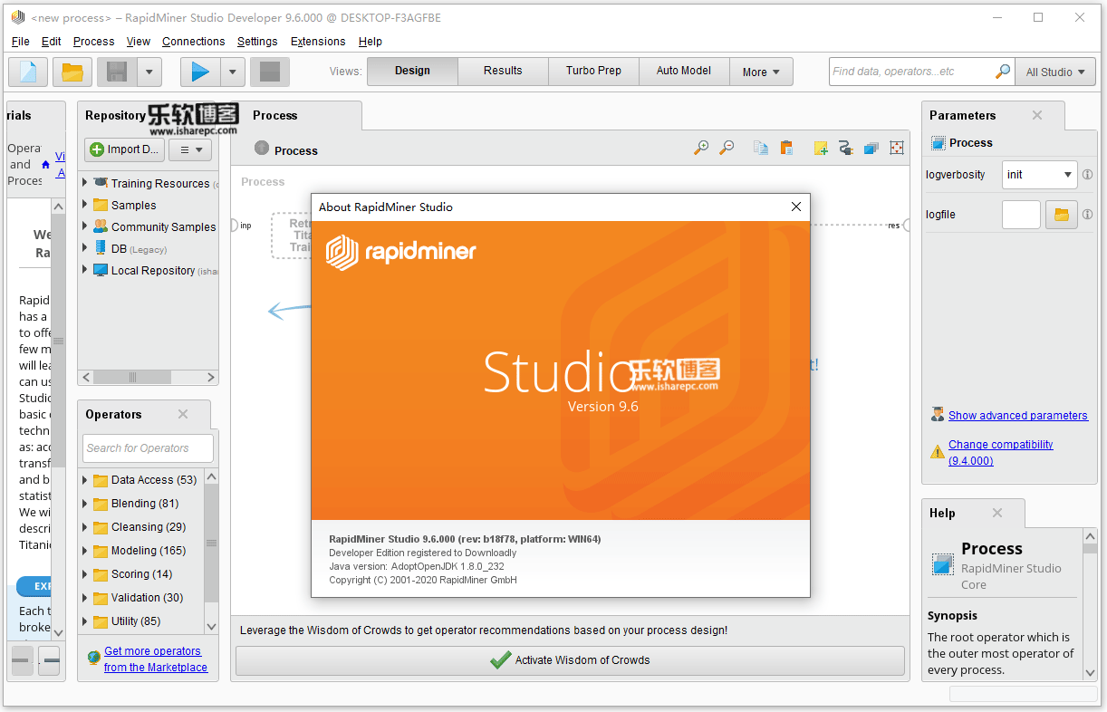 RapidMiner Studio Developer 9.6.0破解版